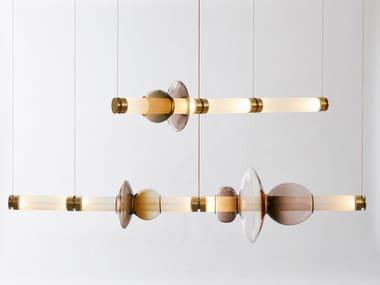 Lampada a sospensione a LED in vetro soffiato LUNA 2 | Lampada a sospensione