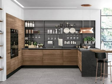 Fitted kitchen with peninsula LUNA | Kitchen with peninsula