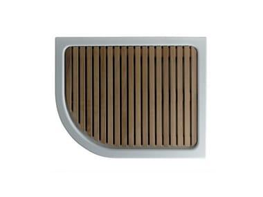 Piatto doccia da esterno in legno di okumè cm arkema d