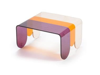 Low glass coffee table LUNAPARK SMALL