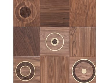 Walnut wall/floor tiles LUNE