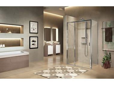 Box doccia angolare con porta scorrevole LUNES 2.0   3PH + F