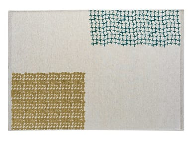 Rectangular chenille and cotton rug LUSO