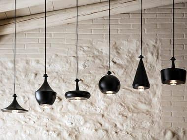 Lampada a sospensione in ceramica LUSTRINI - ROSONE MULTIPLO LINEARE