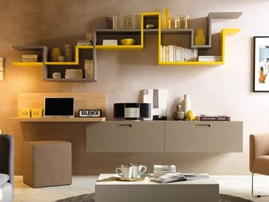 Wall-mounted elm storage wall LV113 | Storage wall