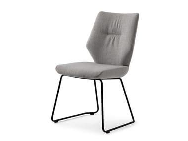 Sled base fabric chair LXR02 | Sled base chair