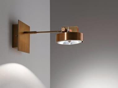 Faretto orientabile rotondo in ottone MA01 WORK LIGHT