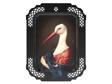 HPL tray / wall decor item MADAME LA CIGOGNE