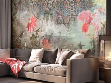 Papel de parede de flores MADRAS