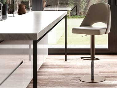 Eco-leather stool with gas lift MADRID