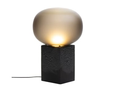 Blown glass table lamp MAGMA ONE LOW