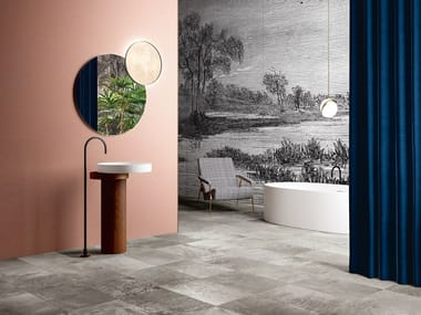 Porcelain stoneware wall/floor tiles MAGNETO SILVER