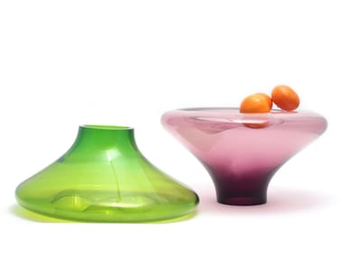 Blown glass fruit bowl / vase MAKEMAKE