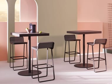 Square aluminium high table MAKEMAKE | Square table