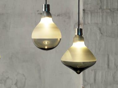 Direct light satin glass pendant lamp MAKEUP | Pendant lamp