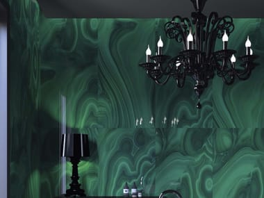 Porcelain stoneware wall/floor tiles MALACHITE