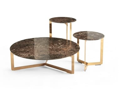 Round marble coffee table MALIBÙ | Marble coffee table