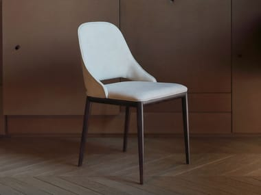 Upholstered leather chair MALVA