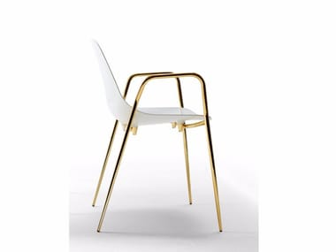Aluminium chair with armrests MAMMAMIA 2016 EDITION | Chair with armrests