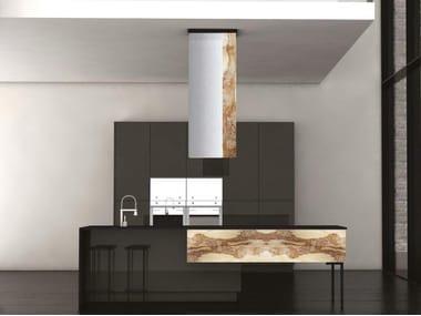 Wooden kitchen with island MANHATTAN