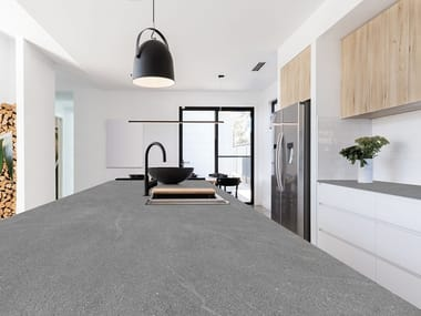 Sintered ceramic kitchen worktop with stone effect MANHATTAN | Sintered ceramic kitchen worktop