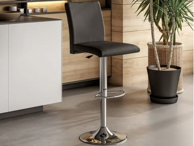 Stool with gas lift with footrest MANILA
