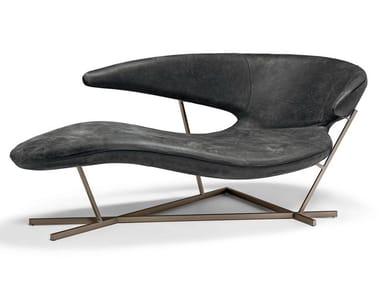 Leather Chaise longue MANTA