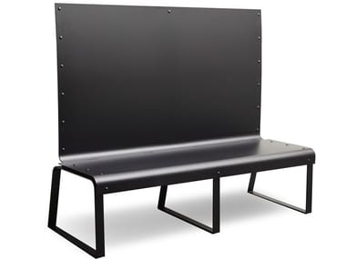 High-back plate bench MANU 13