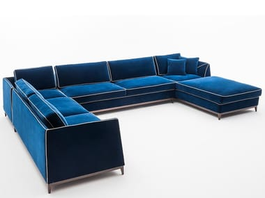 Sectional fabric sofa with chaise longue MANZONI   Corner sofa