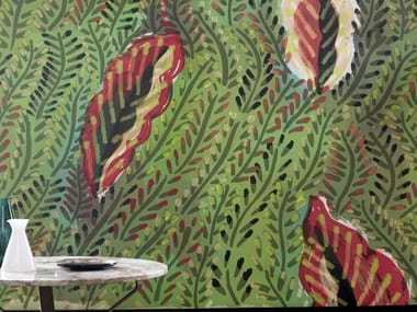 Panoramic nonwoven wallpaper with floral pattern MAQUIS