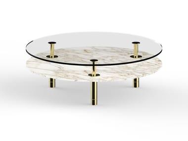 Mesa de centro redonda de mármore LEGS | Mesa de centro de mármore