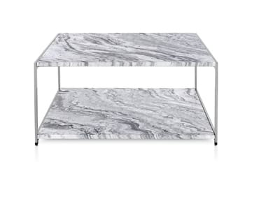Square marble coffee table H FRAME | Marble coffee table