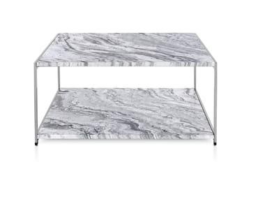 Table basse carrée en marbre H FRAME | Table basse en marbre
