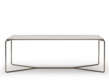 Rectangular glass and steel coffee table MARCEL | Rectangular coffee table
