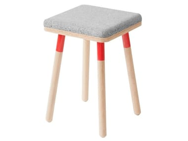 Low stool with integrated cushion MARCO | Low stool