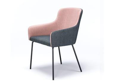 Upholstered fabric chair with armrests MARCO M3 L1
