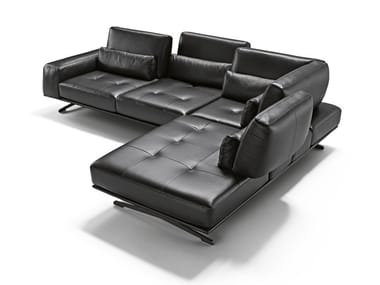 Corner sectional leather sofa MARGE