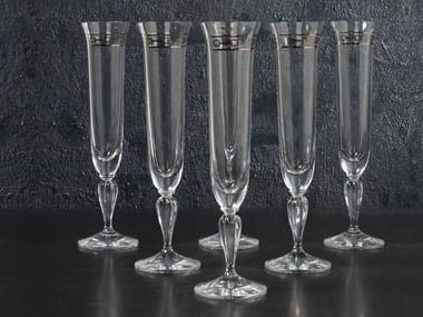 Crystal champagne glass MARGHERITA | Set champagne glass