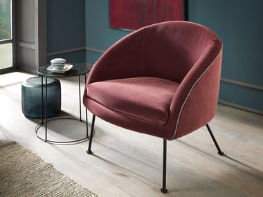 Velvet easy chair with armrests MARGOT | Easy chair