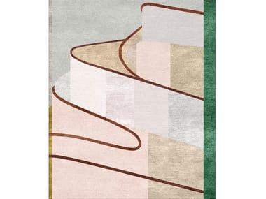 Handmade wool and silk rug MARIA