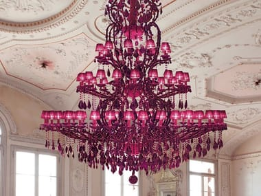 Metal chandelier with Swarovski® Crystals MARIA TERESA VE 973 70