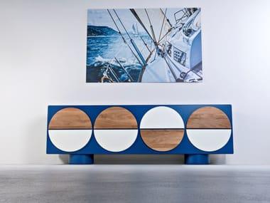 Wooden sideboard with doors MARIN