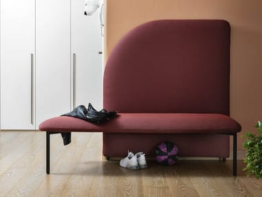 Modular fabric bench seating MARINO