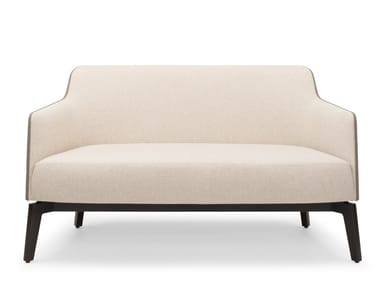 Fabric small sofa MARLÈNE LOUNGE 400 WOOD