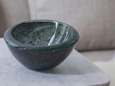 Glass serving bowl BOWL MARMORA