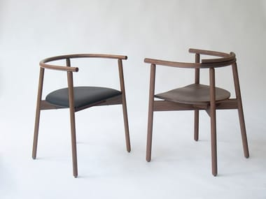 Wooden chair with armrests MARS | Chair