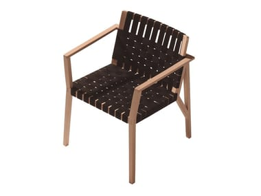 Beech chair with armrests MARTA 241CC