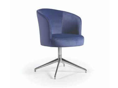 Cadeira estofada de 4 raios de tecido MARY METAL
