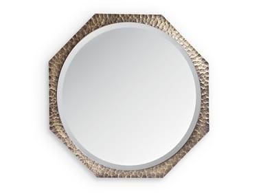 Round wall-mounted wrought iron mirror MARYLIN | Round mirror