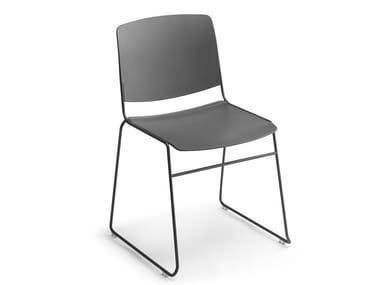 Stackable polypropylene chair MASS | Chair